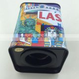 rectangle Coin Bank Collection tin cans