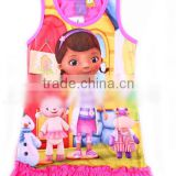 Wholesale New Children's Pajamas girl Doc Mcstuffins night skirt sleepwear kids pyjamas kids clothing kids dresses