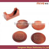 2015 Customize Antique Carved Wooden Tea Coaster