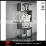 portable high gloss shelving unit wooden Display stand bookshelf