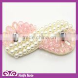 Hot sell ! ! Fashion sew on beads handmade bead flower trim