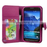 promotion funky leather flip cover case housing for samsung galaxy s5 active g870 with magnet clasp