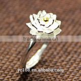 Fashion Jewelry Type 925 Sterling Silver Coral Flower Wedding Rings Wholesale Korea Jewelry
