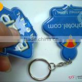 OEM factory hot sale pvc led key chain with light
