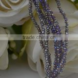 AB coating color tyre beads,faceted rondelle beads,wholesale crystal beads,crystal beads in bulk