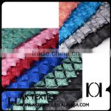 Square Brilliant Laser Chemical Lace Fabric