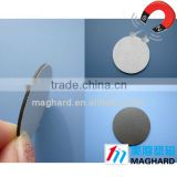 Round Rubber magnet with 3M adhesive,Factory directly selling