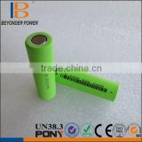 Long cycle life rechargeable li-ion battery cell 2600MAH 18650 battery sanyo cylindrical cell with button top