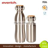 Mirror Finished Custom Stainless Steel Vacuum Sports Bottle With Bamboo Lid Quality Assured