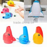 New Happy Fun Animals Cartoon Faucet Extender For Helps Toddler Baby Children Kids Washing Hand In Bathroom Sink 3 Colors