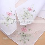 Hand embroidery flower theme handkerchief
