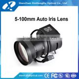 1/3'' sensor 5-100mm-Auto-Iris Vari-Focal CCTV Camera Lens for Box Cameras, CS Mount
