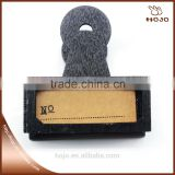 Wholesale office decorative wood clip black with number paper