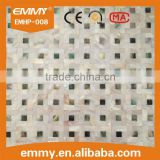 Mixed design elegant mother of pearl seashell mosaic wall tile abalone & white decorative material