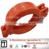 Concrete pump spare parts, Forging Sany concrete pump steel pipe Coupling, DN 125 5--1/2' Bolt