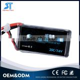 wholesale price Rechargeable 7.4V 1500mAh Lipo Battery 25C lithium polymer battery with connector