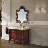Floor Mounted Antique wood bathroom Vanity cabinet, bathroom vanity cabinet with carving