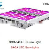 intelligent smart led grow light, Saga Sco-840w Three Switches, fit for Seed,Veg and Flower stages