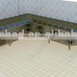 Professional Awning Installation canopy for car shed with aluminum frame solid polycarbonate terrace awnings