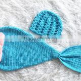 Custom coloful handmade crochet mermaid tails crochet newborn outfit #3