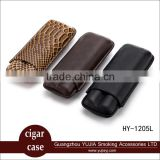 Guangzhou YuJia Best COHIBA 2 capacity big diameter cigar case with gift box