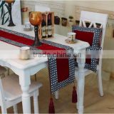 Multiple Size Velvet Iron Stone Bed Luxury European Style Table Runner