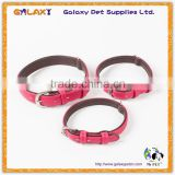 SImple Design Soft Padded Leather Dog Collar,Bling Beaded Wholesale Dog Collar