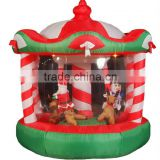 inflatable christmas rotating horse/ merry go round