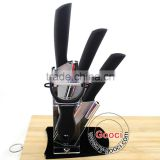 "BLACK Handle WHITE BLADE Professional chefs and home cooks 3""+ 4""+ 5""+Peeler Kitchen Ceramic knife Set"
