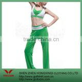 dry fit fitness Green Yoga suit,Bodybuilding suit
