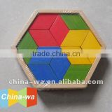 colored bamboo jigsaw puzzle game toy