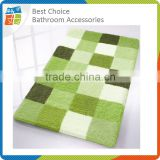 New Jacquard Microfiber Green Bath Mat