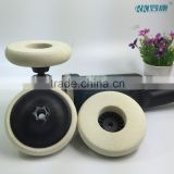 5'' hard and thick m14 felt polishing disc wholesale wool felt pad for stainless steel