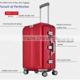 full alloy carry-on cabin trolly luggage bag with aluminium megnesium and TSA combination lock for business travel case