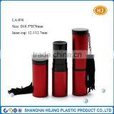 Fringed aluminum wholesale lipstick tube with your own labels