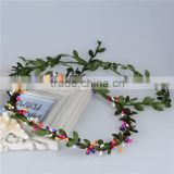 Wedding artificial Flower hair wreath.summer beach gift hair jewelry accessory