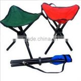 Cheap Portable Lightweight Folding Tripod Stool With Carry Bag, Mini folding stool beach chair