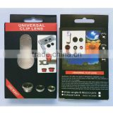3 in 1 Universal Clip Wide Angle Macro Fisheye Zoom Telepcope Mobile Phone Camera Lens Kit