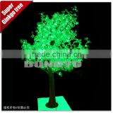Festival led tree light , green Ginkgo Tree outdoor decoration 2.7M