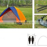 Outdoor 1-2 Person Portable Double Layer Patio Pop Up Camping Bed Tent Custom Camping Tent