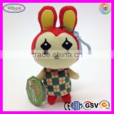 "A904 5"" Animal Crossing Plush Keychain Stuffed Bunny Doll Keychain"