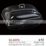 SG-8076 clear plastic rectangle food cover