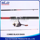2.0m 2.1m 2.4m Middle heavy bass spin fishing rod and fishing reel combo in carrying bag
