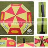 High Quality Double Layer Vented Golf Umbrella Windproof customized promotional advertising umbrella