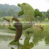 life size large top party artificial landscape uv resin plastic animal leaf alphabet letter dolph statue E08 23o13