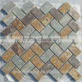 High Quality Slate Mosaic Tile For Bathroom/Flooring/Wall etc & Mosaic Tiles On Sale With Low Price