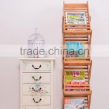 Creative folding bamboo book shelf magazine shelf