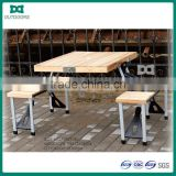 Wood material outdoor table with umbrella hole