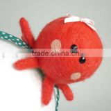 2017 Hot new bestselling product wholesale alibaba handmade neeedle felted Baby Octopus headband made in China