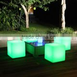 rechargeable LED cube chair colorful LED funiture Changing led cube chair/modern led cube /light led cube furniture